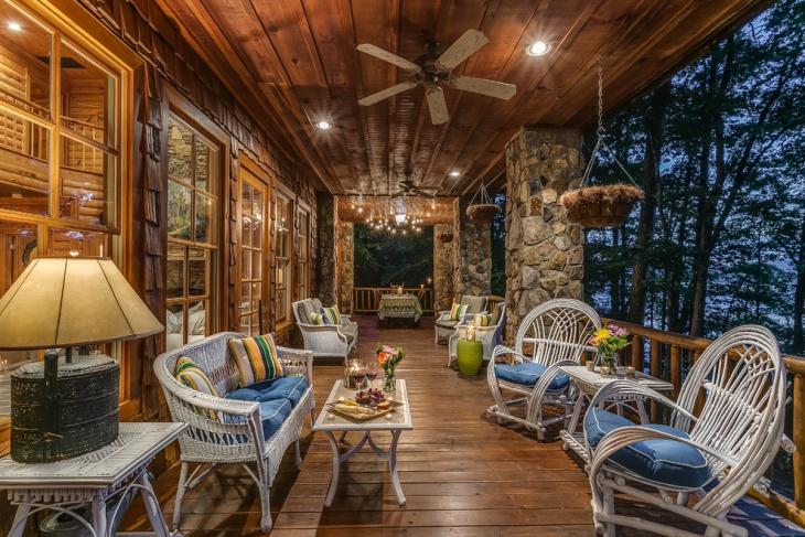 rustic deck roof design