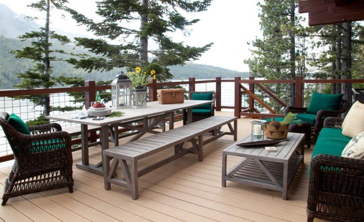 rustic terrace deck design