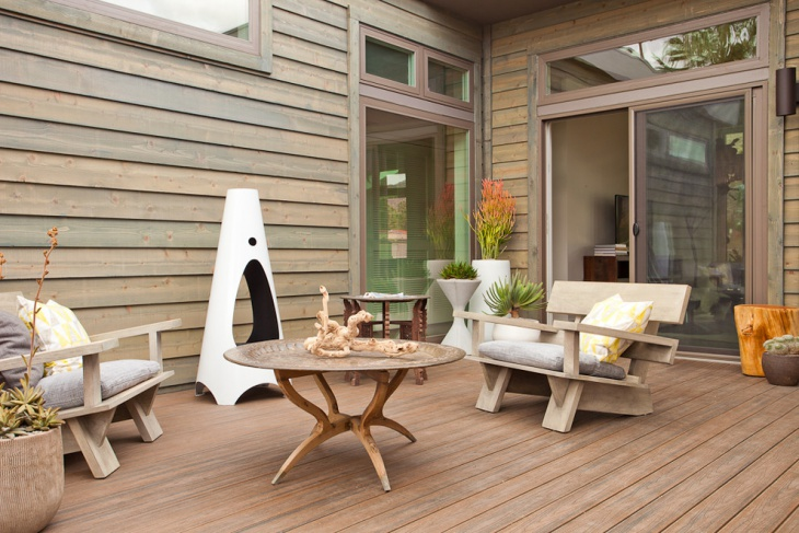 simple rustic deck design