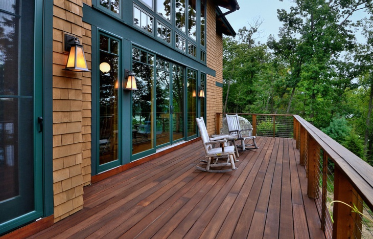rustic wood deck design