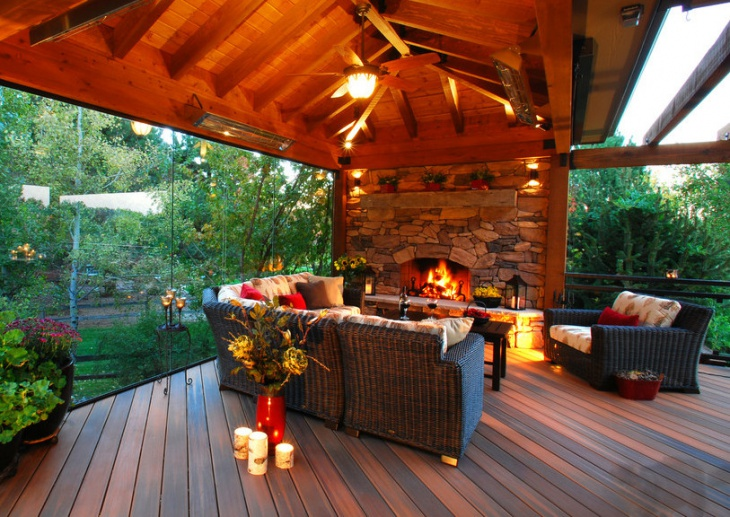 rustic deck lighting idea