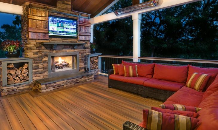 rustic deck sofa design