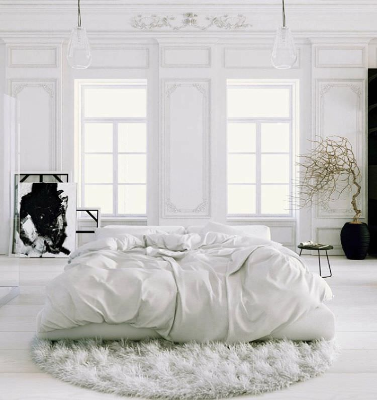 Dream White Bedroom Design