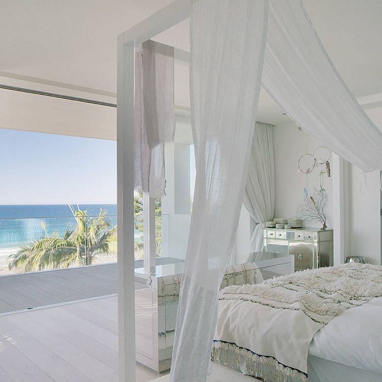 Ocean View White Bedroom Design