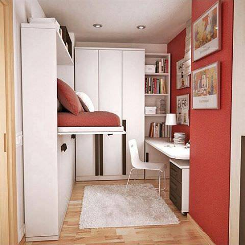 compact small contemporary bedroom design