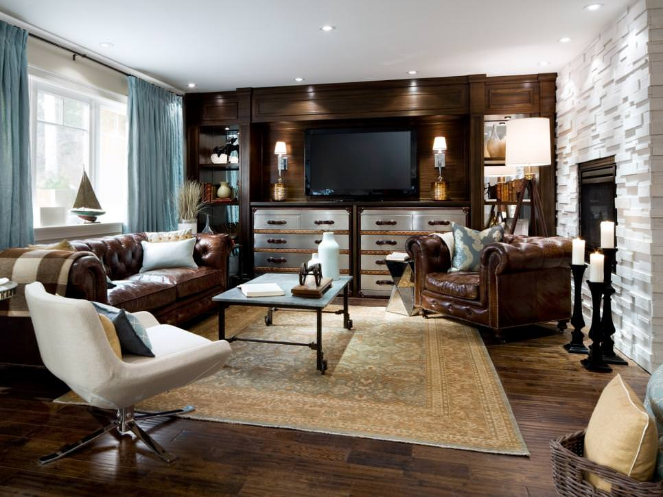 Rustic Chic Candice Olson Living Room