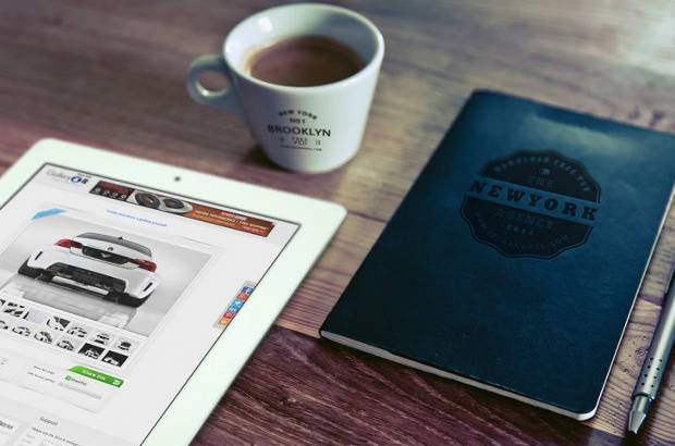 ipad and logo mockup design3