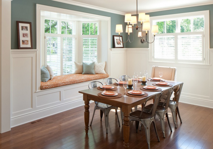 dining room window seat design