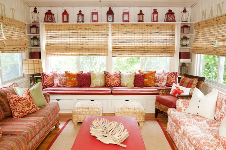 colorful window seat furniture design