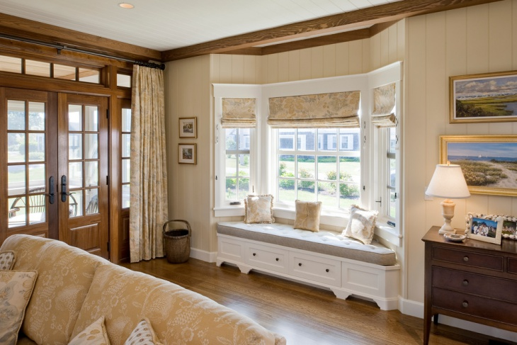 entry room window seat design