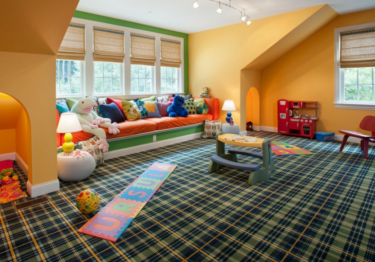 awesome kids playroom window seat
