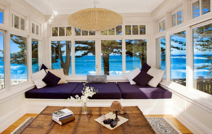 beach view window seat design
