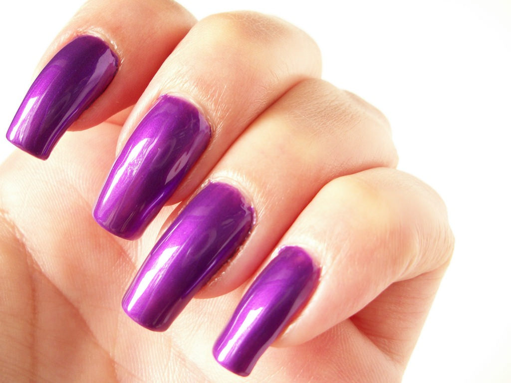 Pure Purple Nail Design, purple .