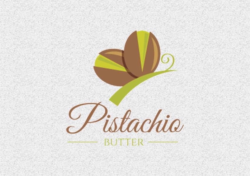Butterfly Logo Design,Green Butterfly Logo Design,Nuts Logo Designs,Organic Logo Designs