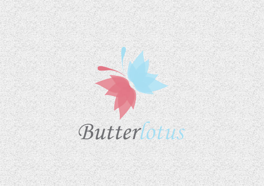 lotuis butterfly logo design