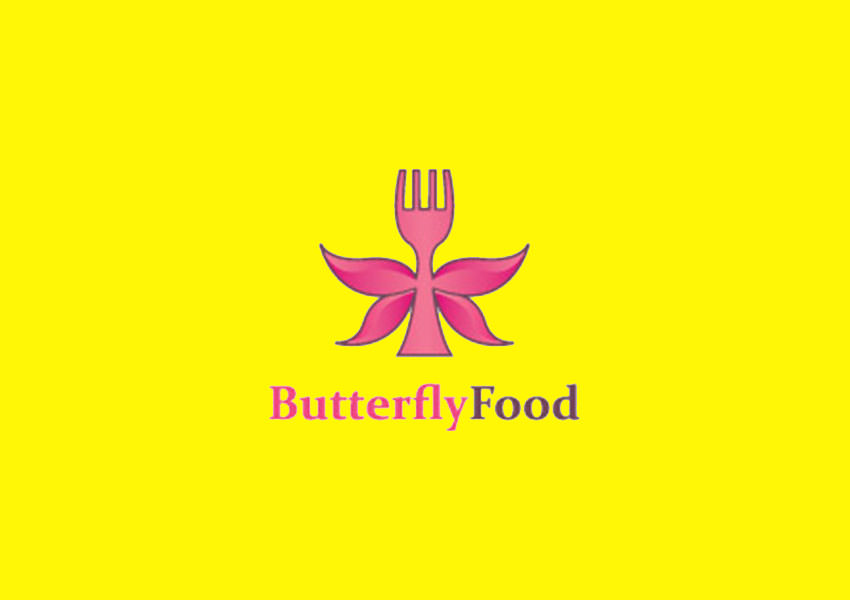 Fork Butterfly Logo,Fork,Restaurant,Butterfly,Wings