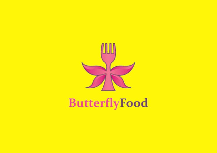 fork butterfly logo design