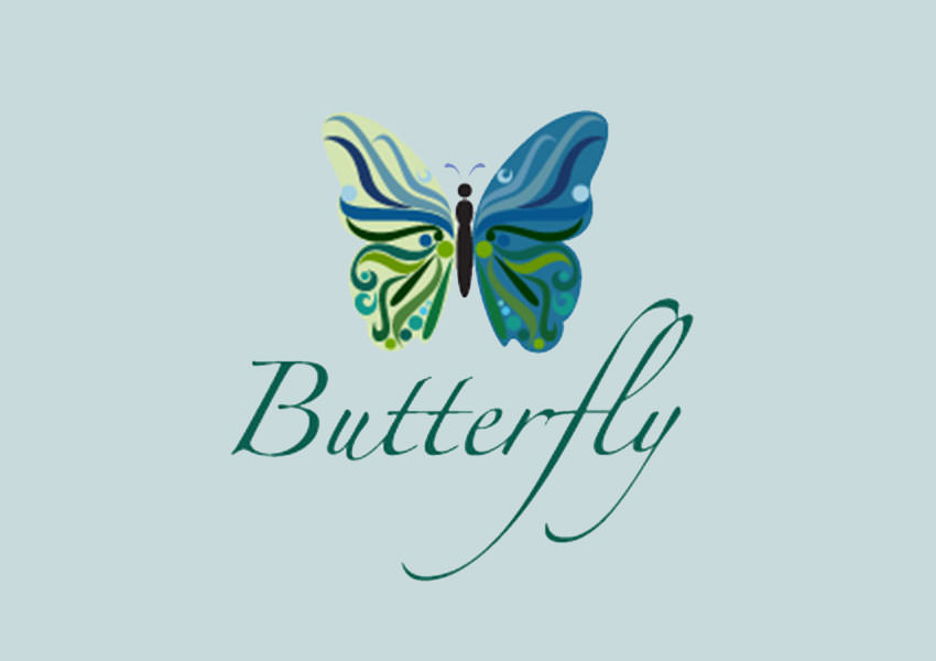 fashion butterfly logo design