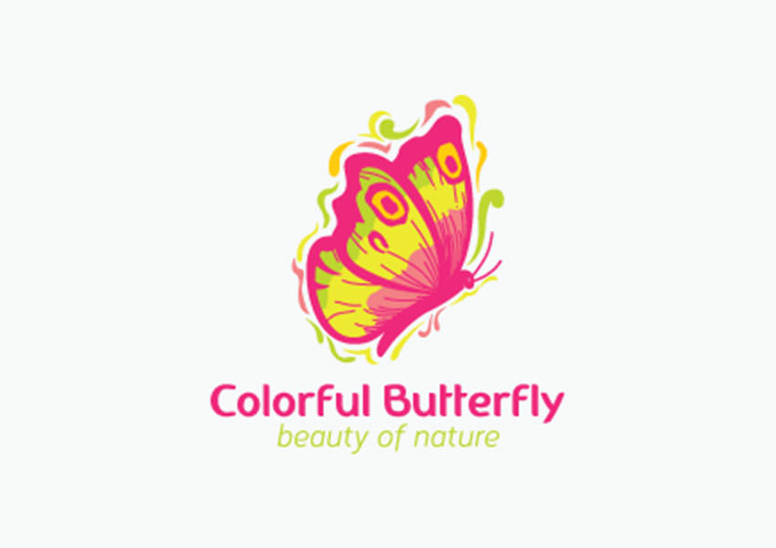 Colorful Butterfly Logo Designs,Colourful,Butterfly