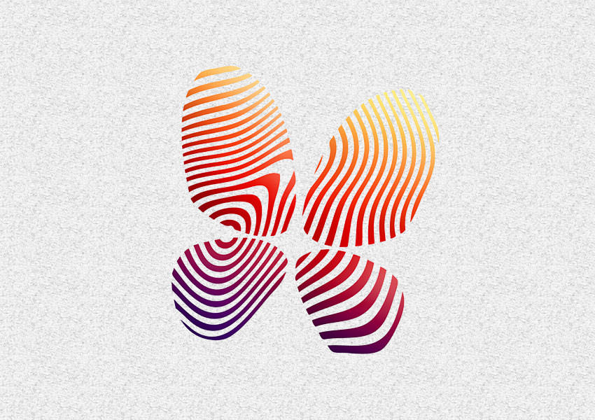 fingerprint butterfly logo design