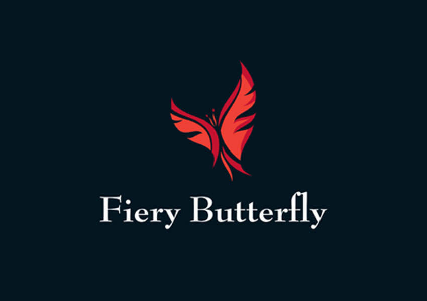 fiery butterfly logo design