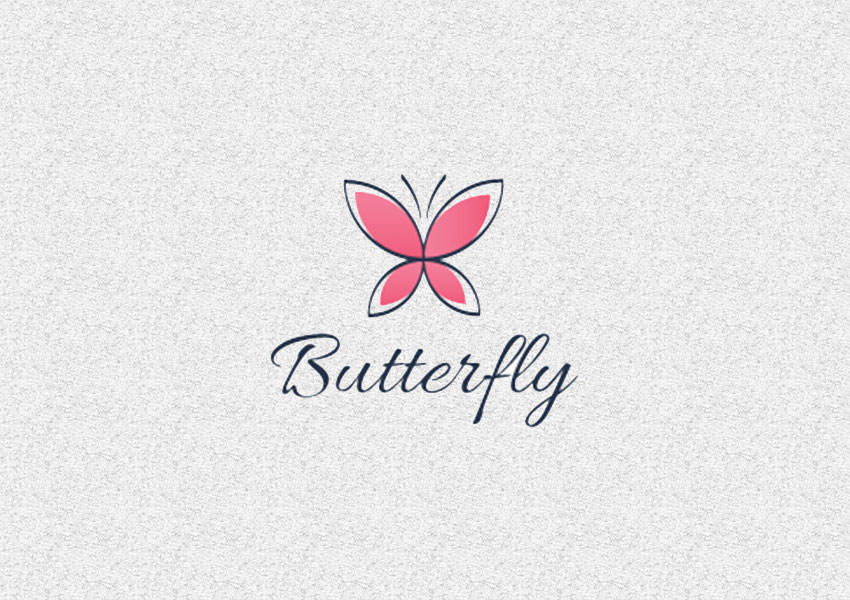 red butterfly logo designs