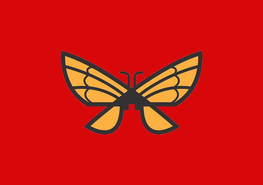vector butterfly logo design