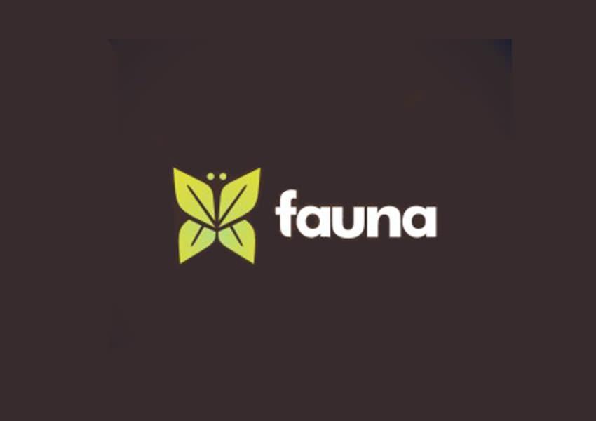 faunaa butterfly logo design