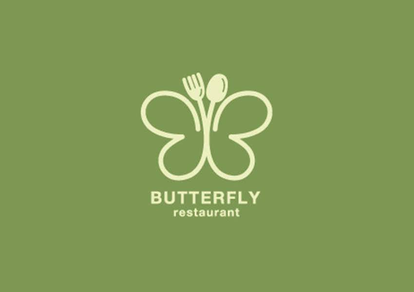 butterfly restaurant logo designs