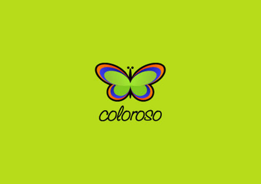 Colorso,Butterfly,Logo,Designs,Wings, Green
