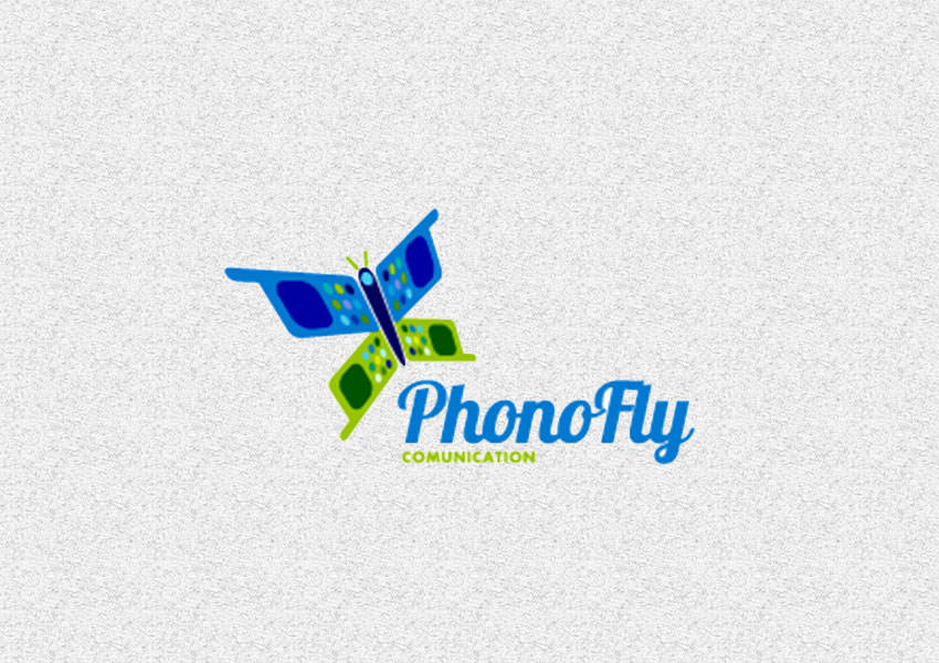 Butterfly,Phone,Logo,Designs,Fly