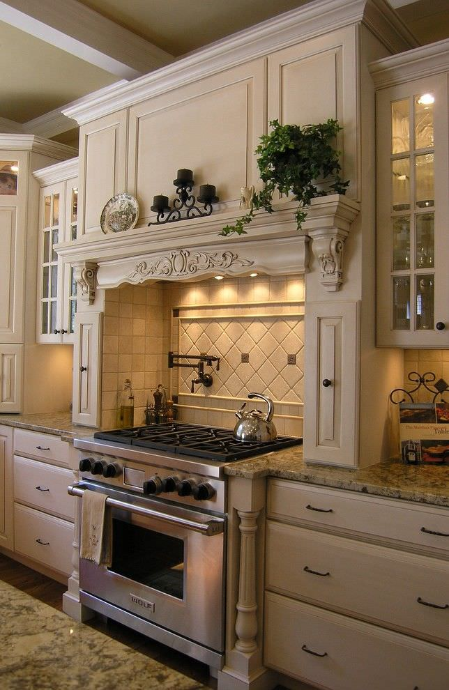 Traditional French Kitchen Design, stove.