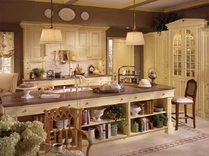 French Big Kitchen Design, Big table.