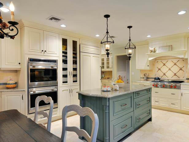 French Kitchen Design With Lights , chairs , lights,