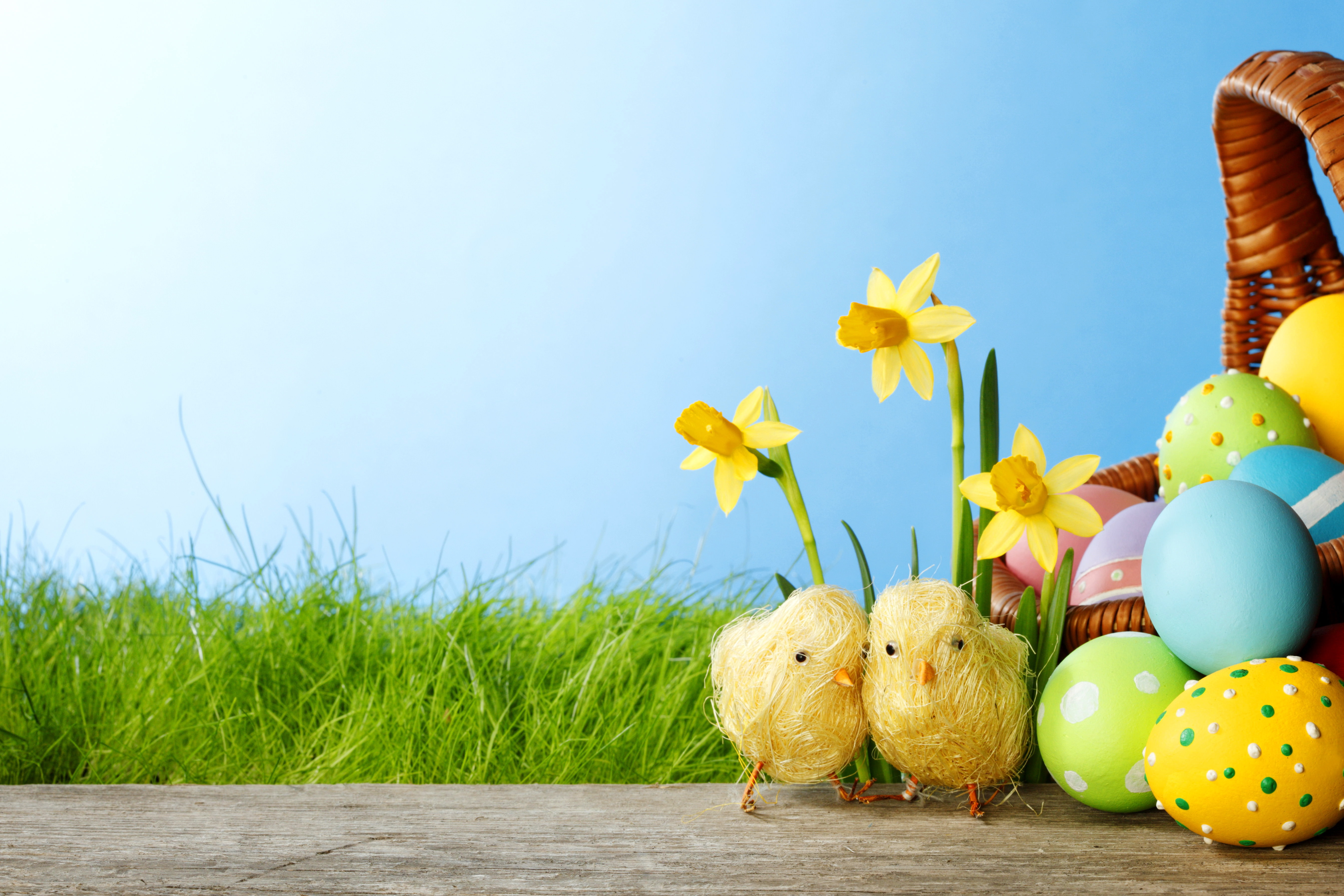 Easter,Background,Designs,Eggs,Basket,Flowers