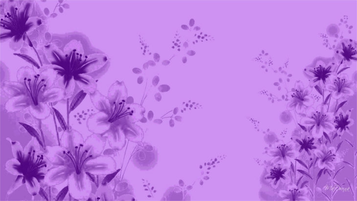 purple-floral-background