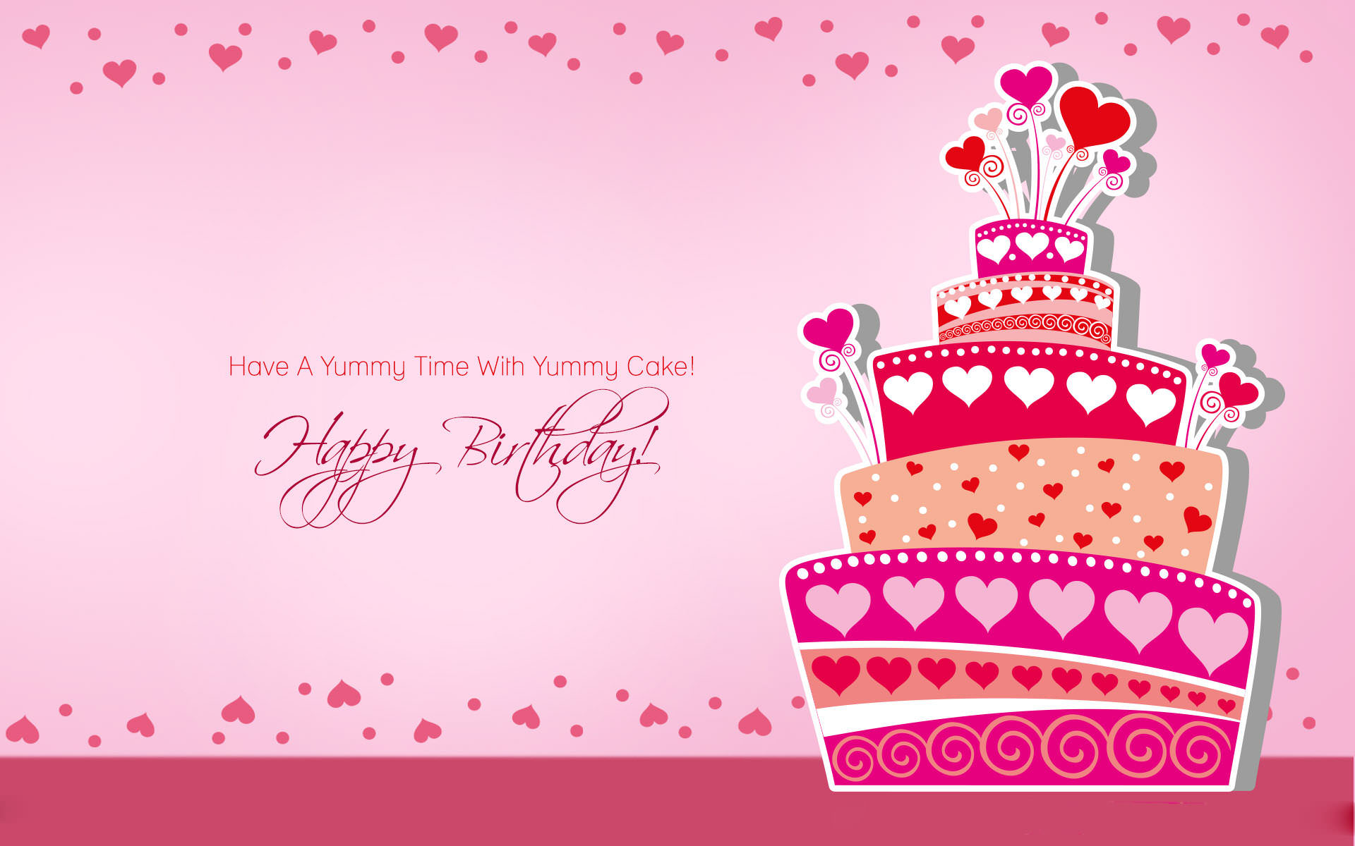 Happy Birthday Background Wallpaper Pink