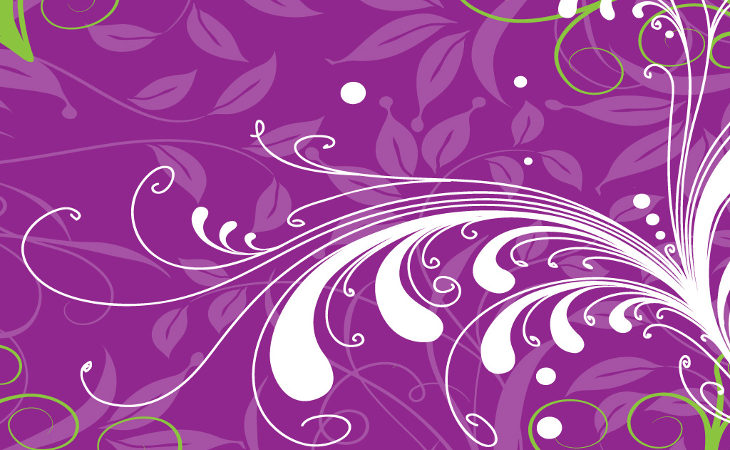 purple-floral-vector-background