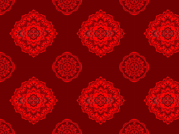Vector seamless red pattern Design