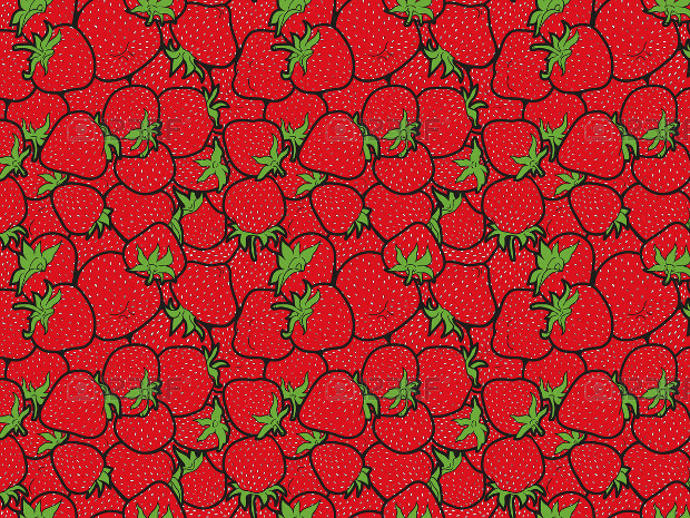 Strawberry Red Pattern Design