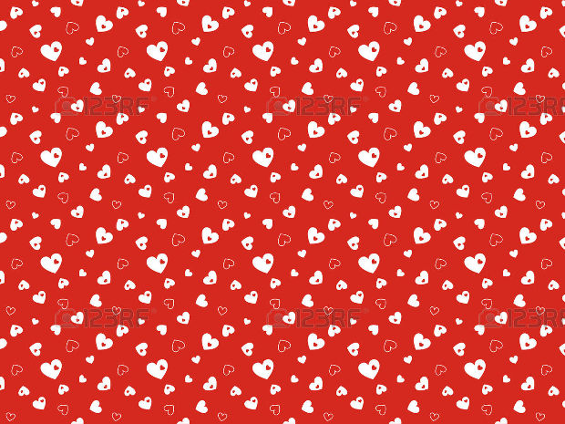 Seamless Red Pattern Design with Hearts