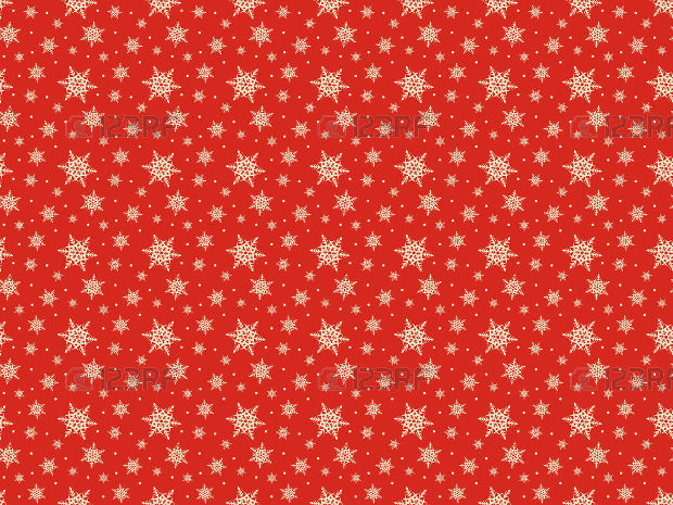 Seamless red pattern Design with snowflakes