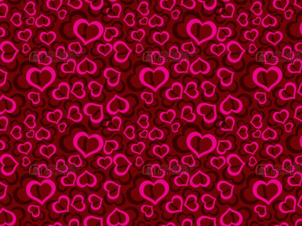 Red Pattern Design with Hearts