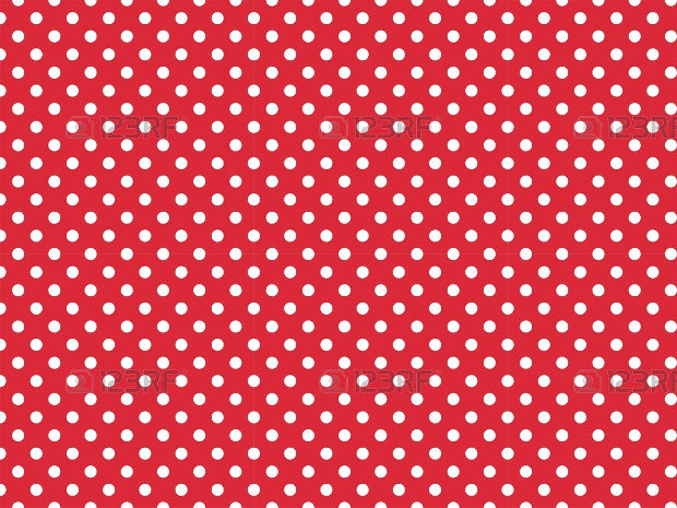 Dot Pattern Design on Red Background