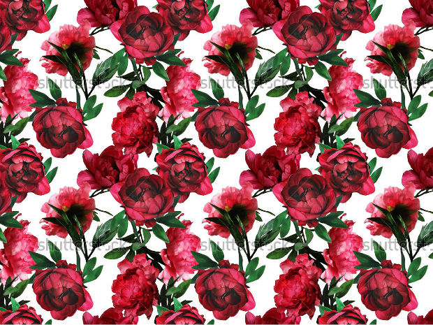 Red Flowers Pattern Design