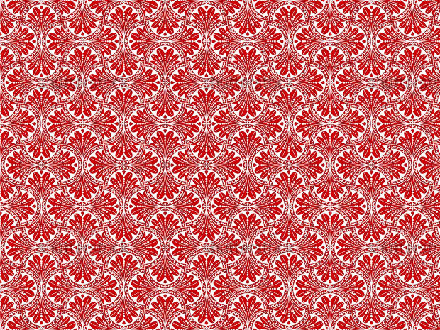 Seamless Red Floral Pattern Design