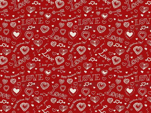 Red Pattern Design for Valentines Day