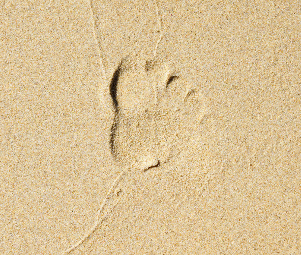 footprint sand texture
