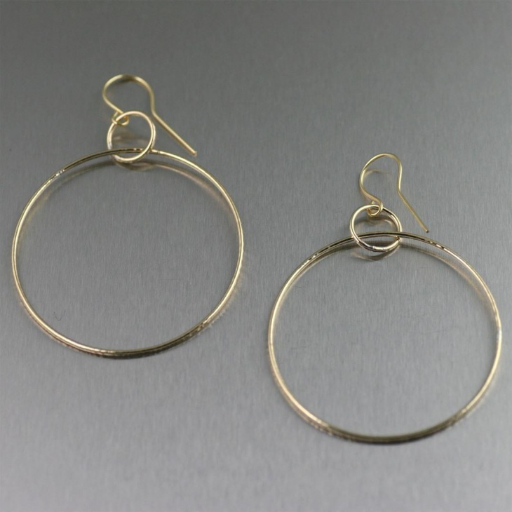 Large attractive gold hoop earrings