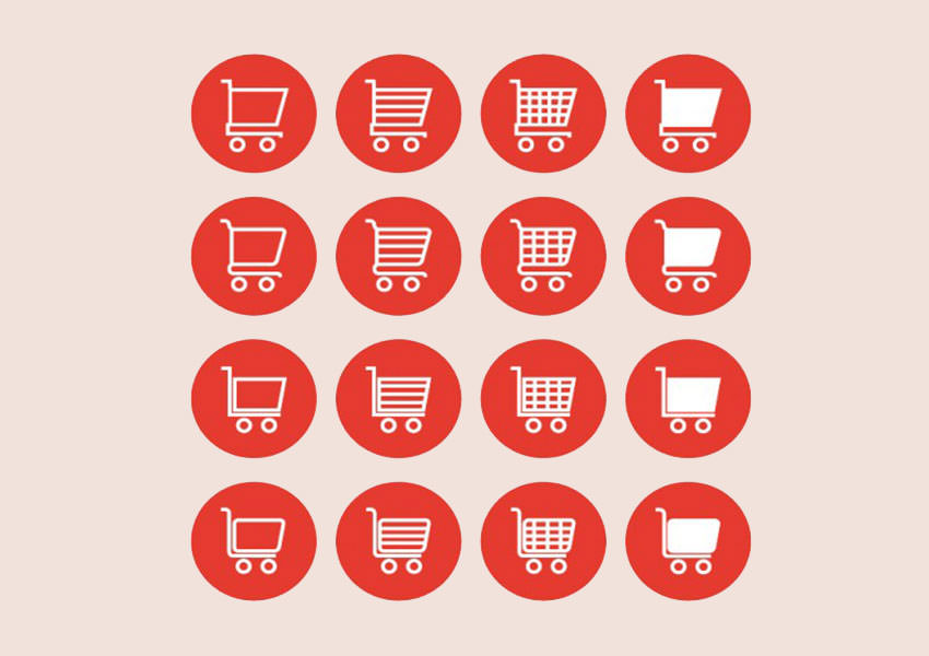Shopping Cart,Icons,Red